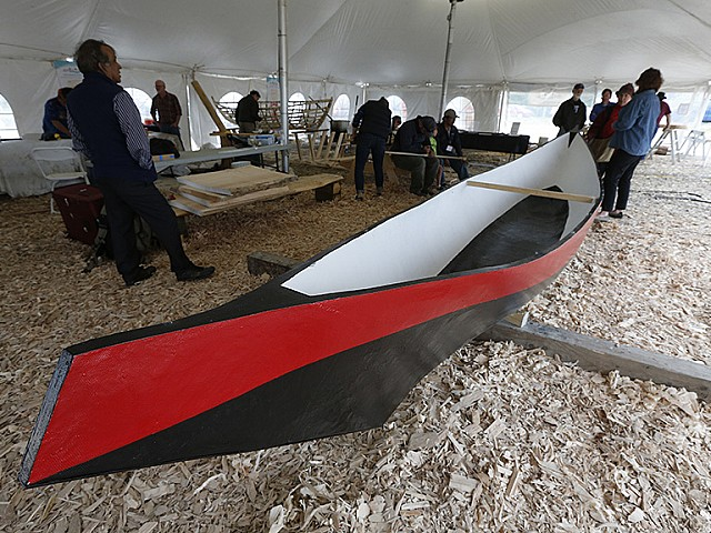 Ready for the water: a dugout canoe for peace